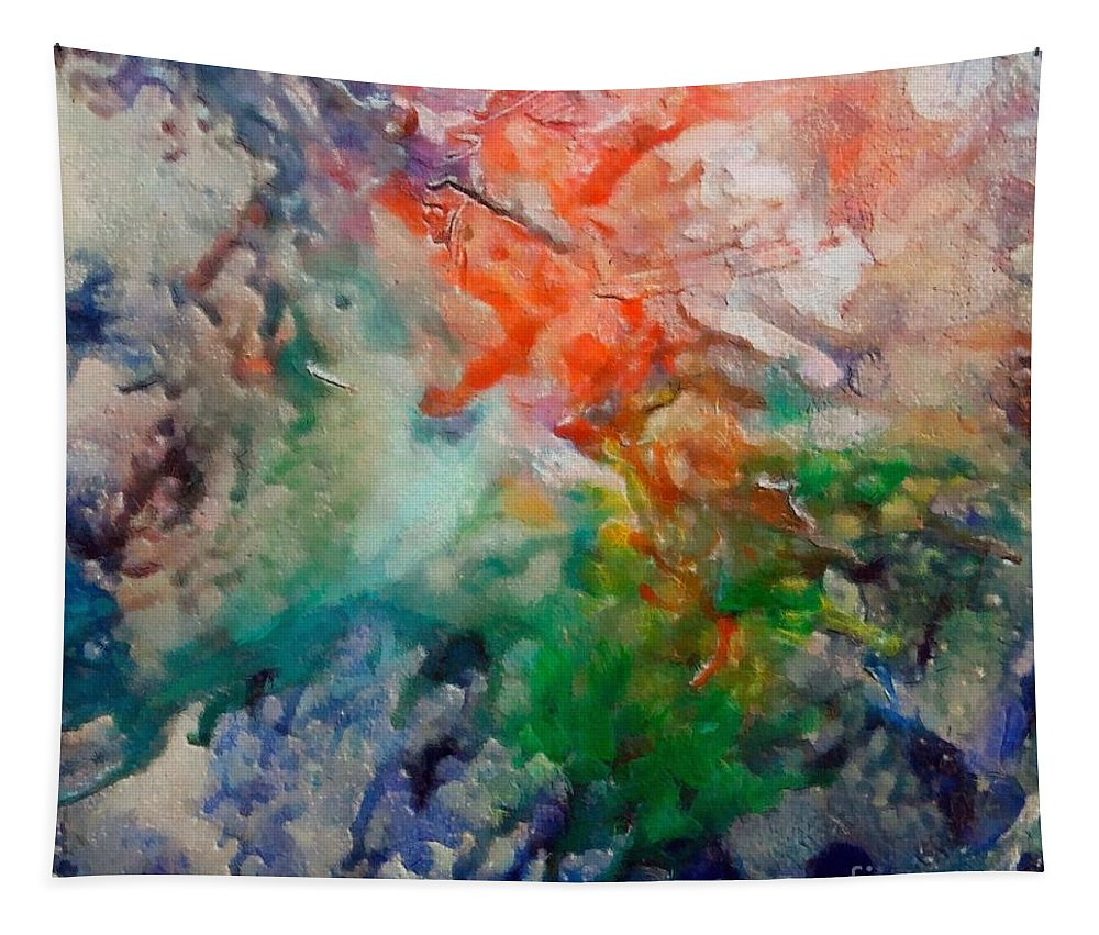 Abstract Tapestry featuring the painting Nebula Algol by Dragica Micki Fortuna