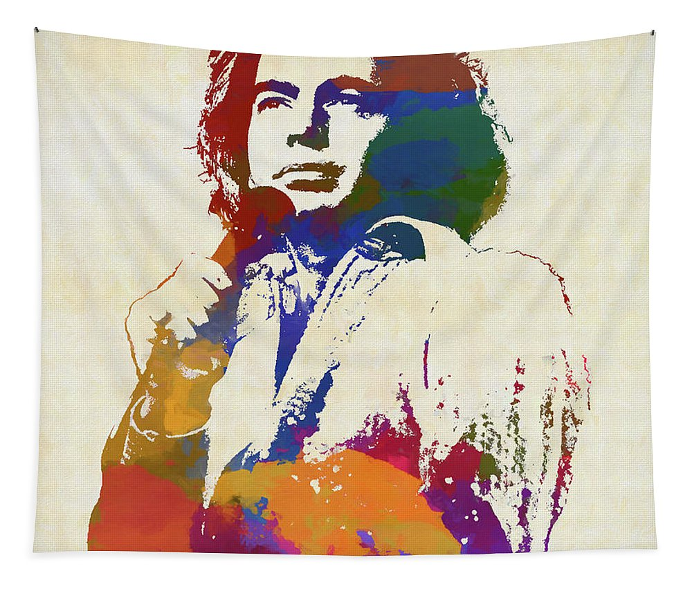 Neil Diamond Tapestry featuring the painting Neil Diamond by Dan Sproul