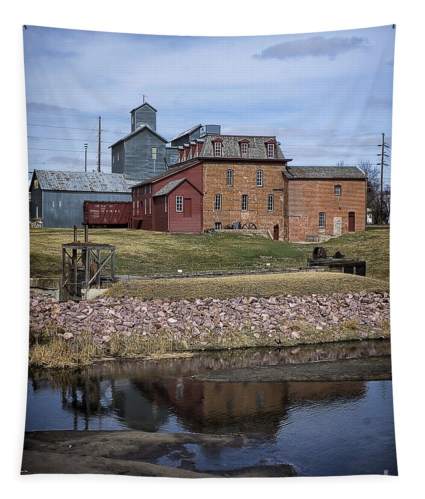 Neligh Mill Tapestry featuring the photograph Neligh Mill by Priscilla Burgers