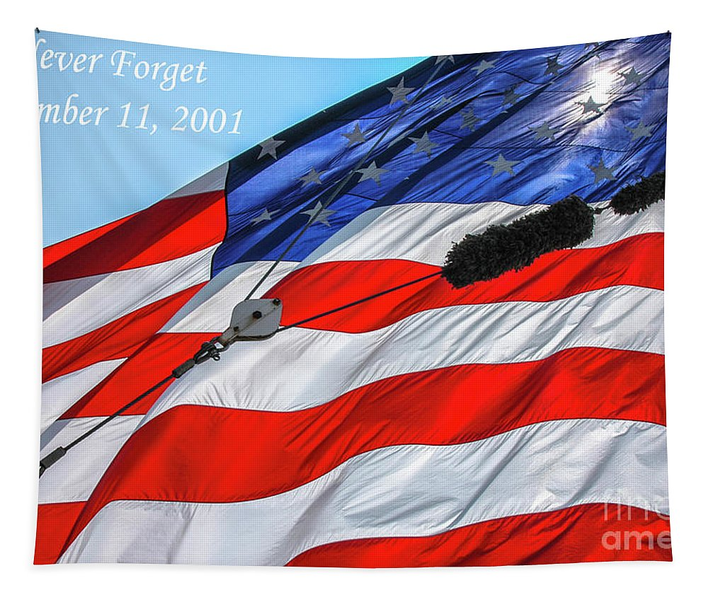 Never Forget Tapestry featuring the photograph Never Forget by Dale Powell