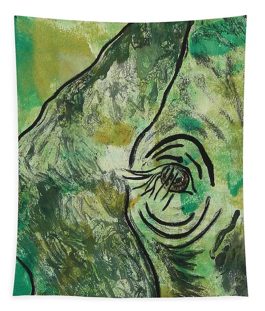 Monotype Tapestry featuring the mixed media Never Forgotten by Cori Solomon