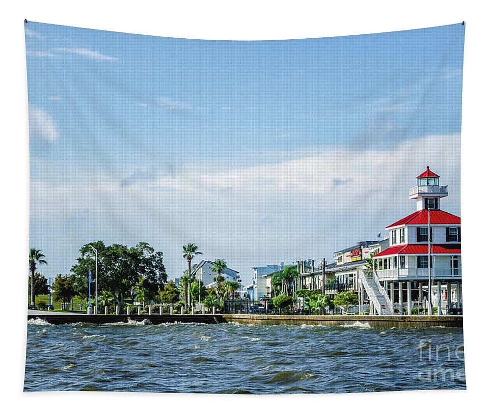 Lighthouse Tapestry featuring the photograph New Canal Lighthouse And Lakefront - Nola by Kathleen K Parker
