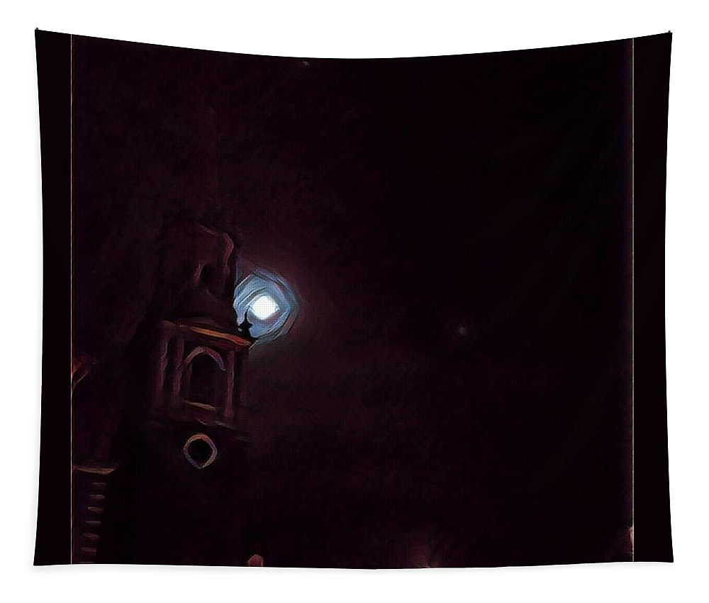 Church Tapestry featuring the digital art New England Gothic by Annette Holland