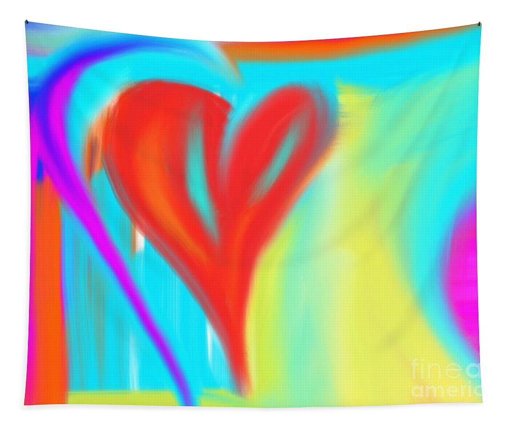 Heart Tapestry featuring the digital art New Heart by Jessica Eli
