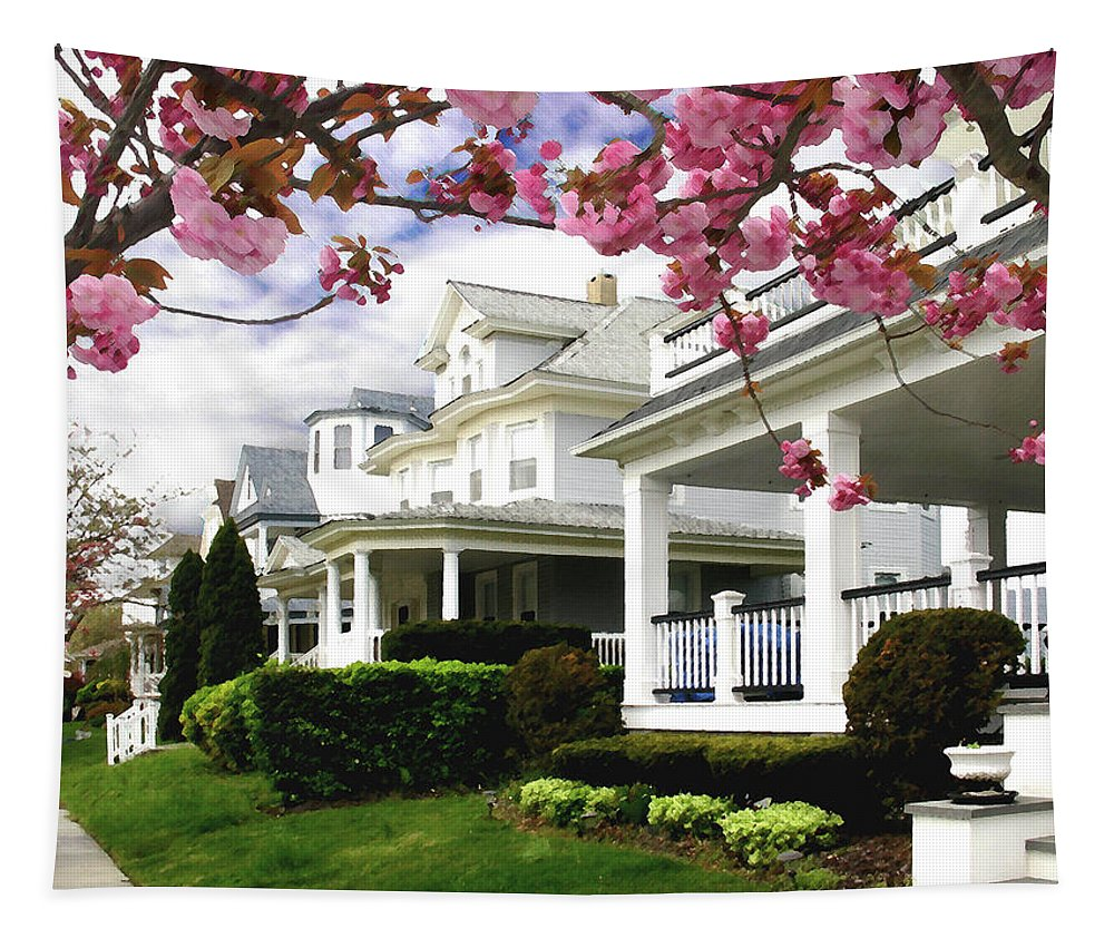 Spring Tapestry featuring the digital art New Jersey Shore Spring by Steve Karol