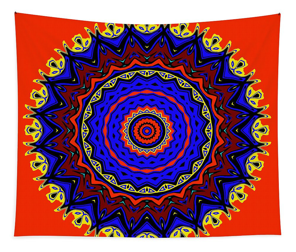 Digital Tapestry featuring the digital art New Mexico by Joy McKenzie