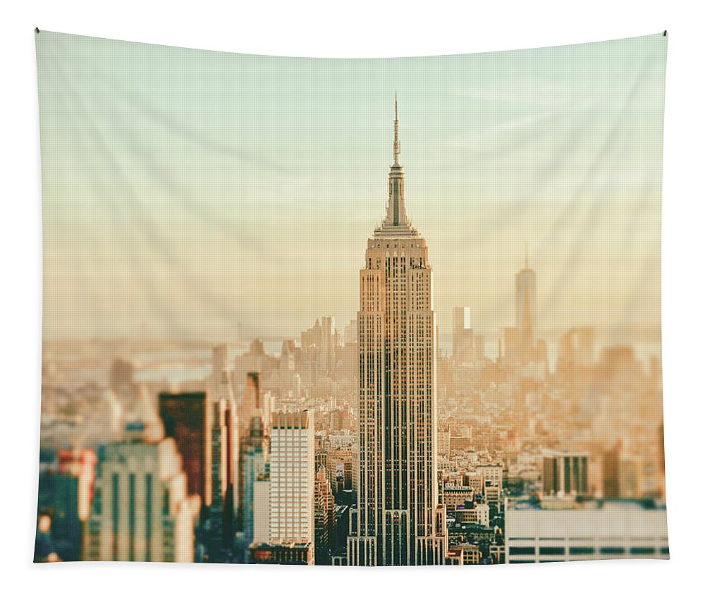 Nyc Tapestry featuring the photograph New York City - Skyline Dream by Vivienne Gucwa