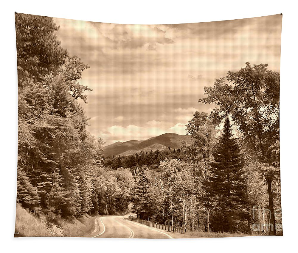 Landscape Tapestry featuring the photograph New York Roadway by Deborah Benoit