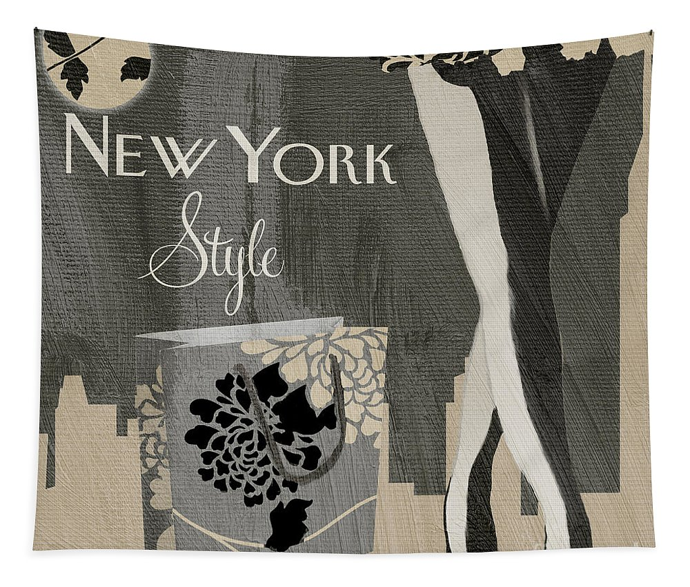 New York Tapestry featuring the painting New York Style I by Mindy Sommers