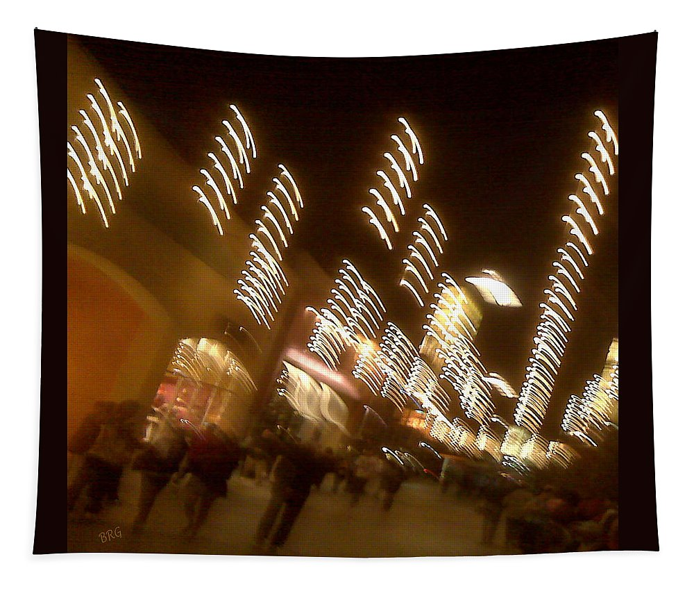 Nightlife Tapestry featuring the photograph Night At The Mall by Ben and Raisa Gertsberg