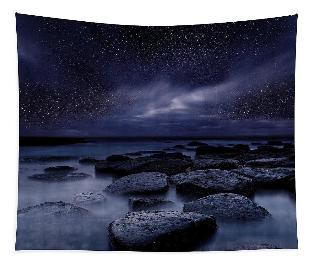 Night Tapestry featuring the photograph Night enigma by Jorge Maia