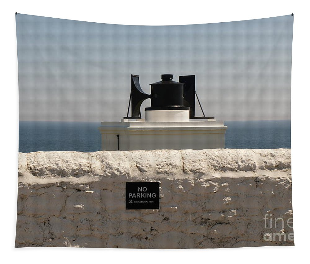 Foghorn Tapestry featuring the photograph No Parking. by Elena Perelman