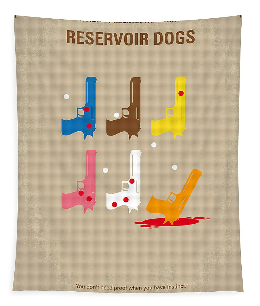 Reservoir Tapestry featuring the digital art No069 My Reservoir Dogs minimal movie poster by Chungkong Art