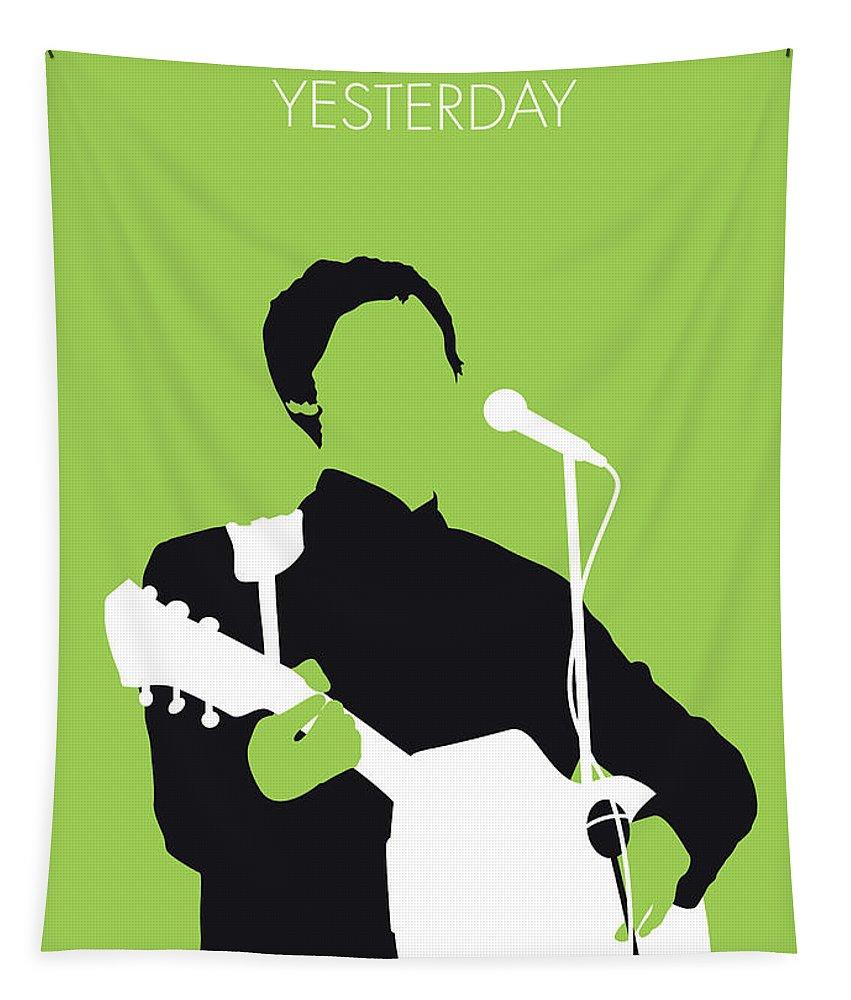 Paul Tapestry featuring the digital art No076 MY PAUL MCCARTNEY Minimal Music poster by Chungkong Art