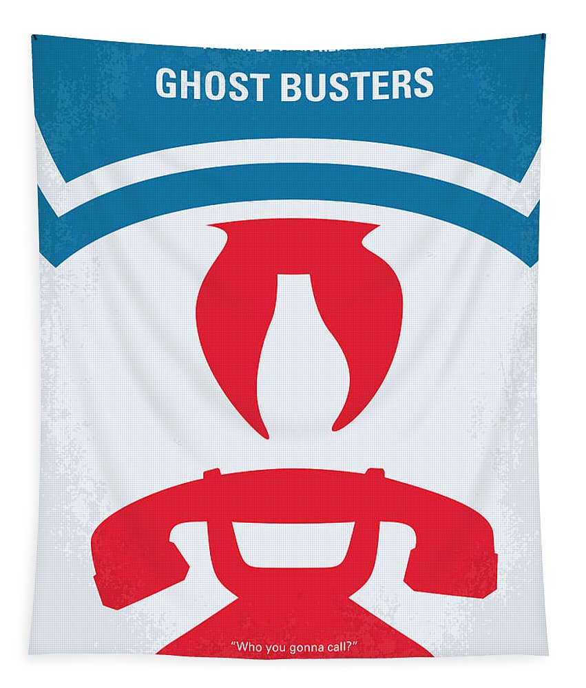 Ghostbusters Tapestry featuring the digital art No104 My Ghostbusters Minimal Movie Poster by Chungkong Art