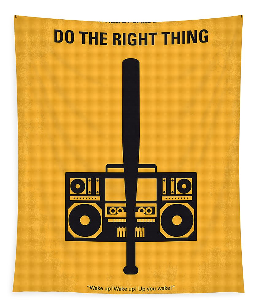 Do The Right Thing Tapestry featuring the digital art No179 My Do the right thing minimal movie poster by Chungkong Art