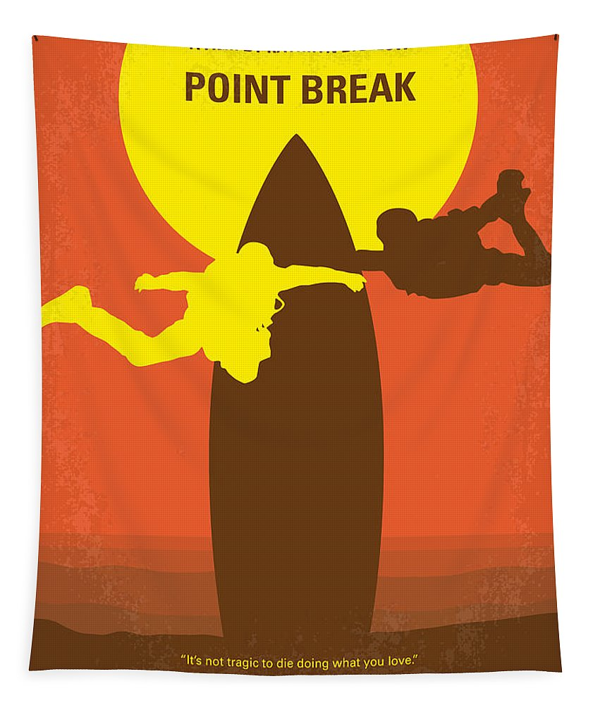 Point Tapestry featuring the digital art No455 My Point Break Minimal Movie Poster by Chungkong Art