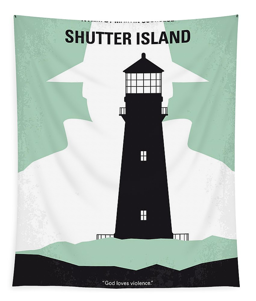 Shutter Tapestry featuring the digital art No513 My Shutter Island Minimal Movie Poster by Chungkong Art