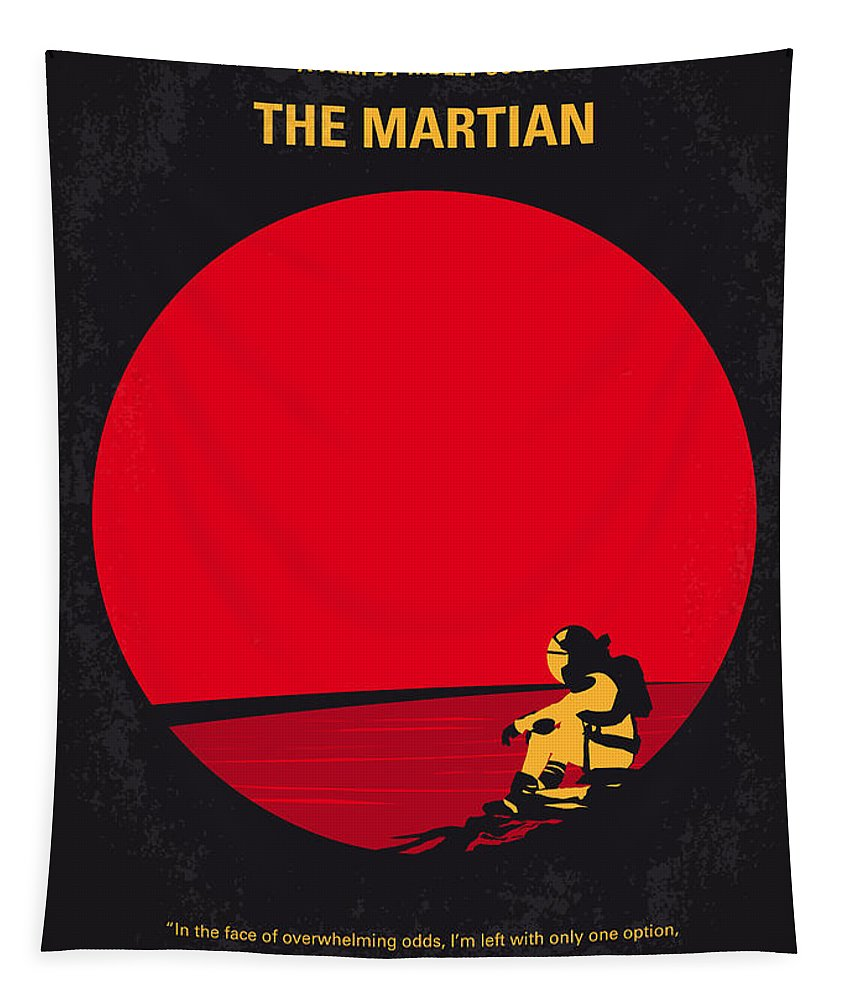 The Tapestry featuring the digital art No620 My The Martian Minimal Movie Poster by Chungkong Art