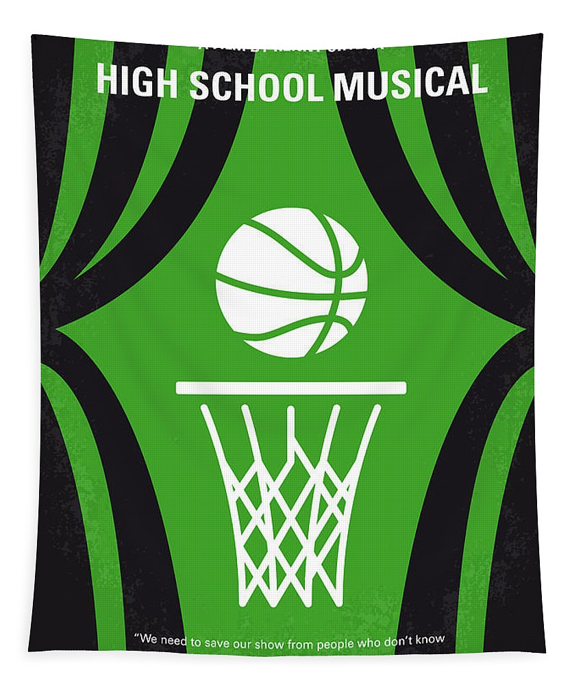 High Tapestry featuring the digital art No633 My High School Musical Minimal Movie Poster by Chungkong Art