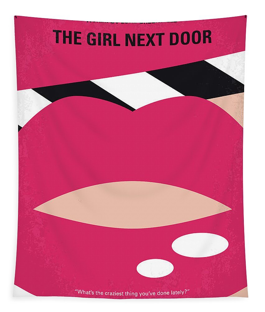 Girl Tapestry featuring the digital art No670 My The Girl Next Door Minimal Movie Poster by Chungkong Art