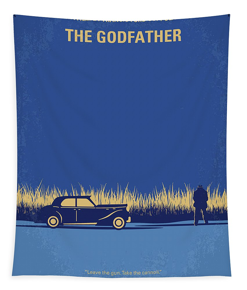 The Tapestry featuring the digital art No686-1 My Godfather I minimal movie poster by Chungkong Art