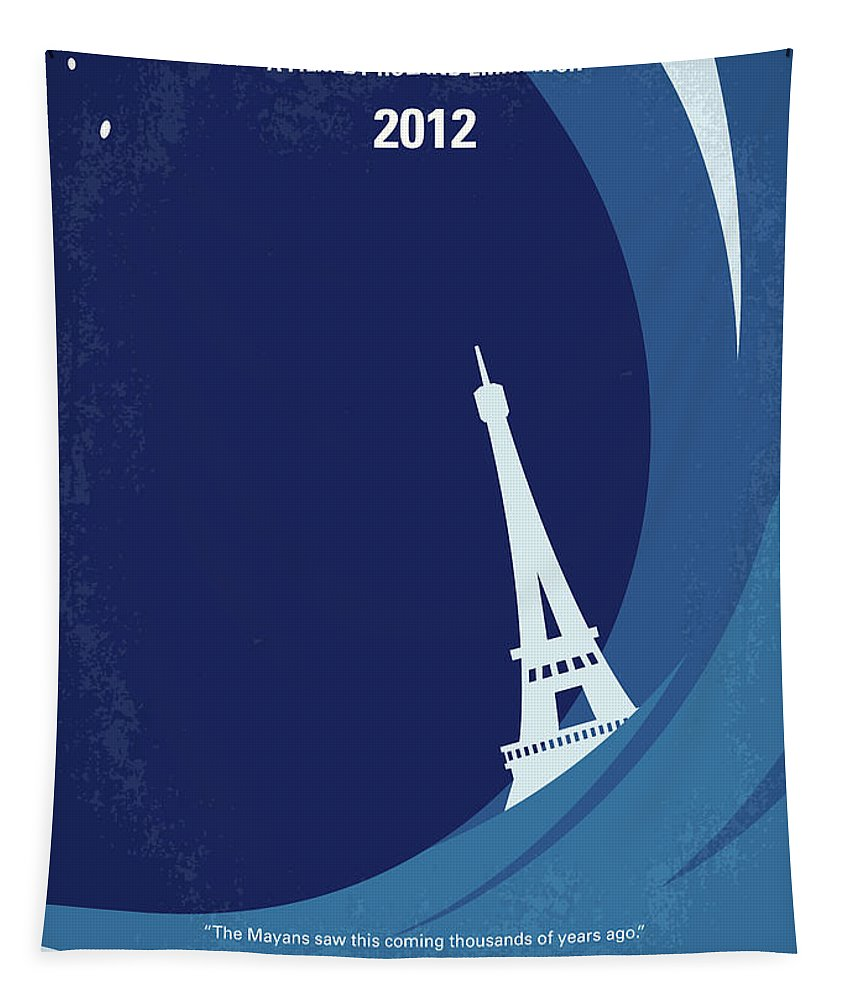 2012 Tapestry featuring the digital art No709 My 2012 minimal movie poster by Chungkong Art