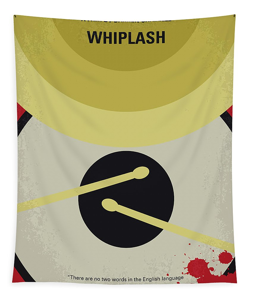 Whiplash Tapestry featuring the digital art No761 My Whiplash Minimal Movie Poster by Chungkong Art