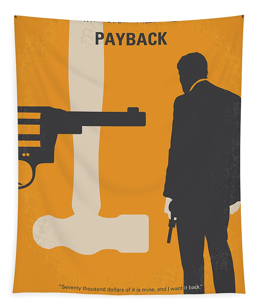 Payback Tapestry featuring the digital art No854 My Payback Minimal Movie Poster by Chungkong Art