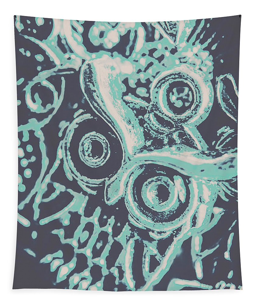Blue Tapestry featuring the photograph Nocturnal The Blue Owl by Jorgo Photography - Wall Art Gallery