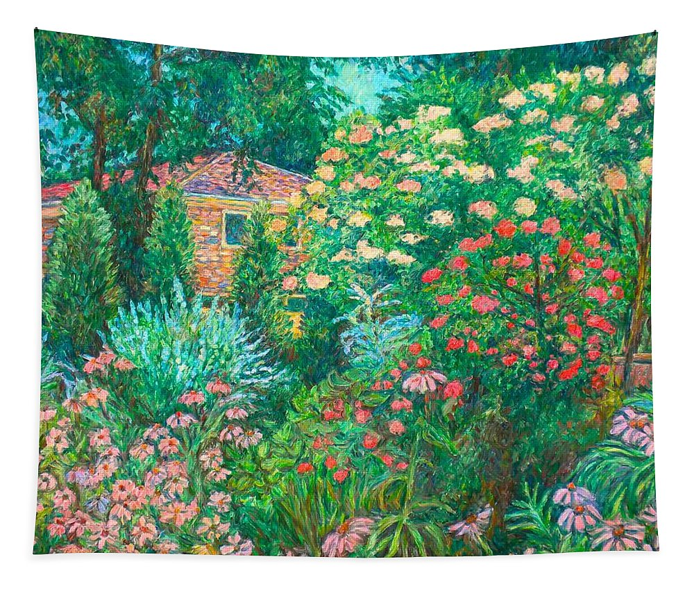 Garden Tapestry featuring the painting North Albemarle In Mclean Va by Kendall Kessler