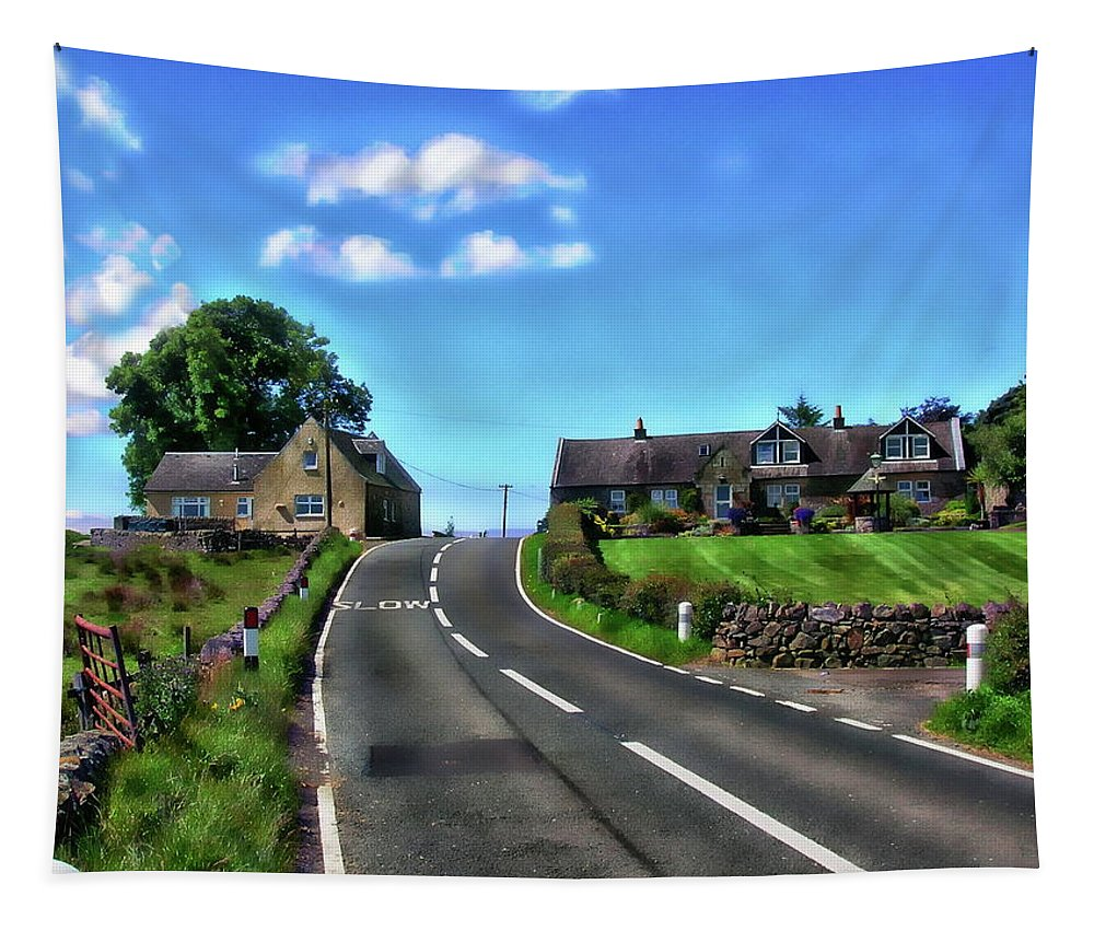Mains Of Giffen Tapestry featuring the photograph North Ayrshire, Scotland by Anthony Dezenzio