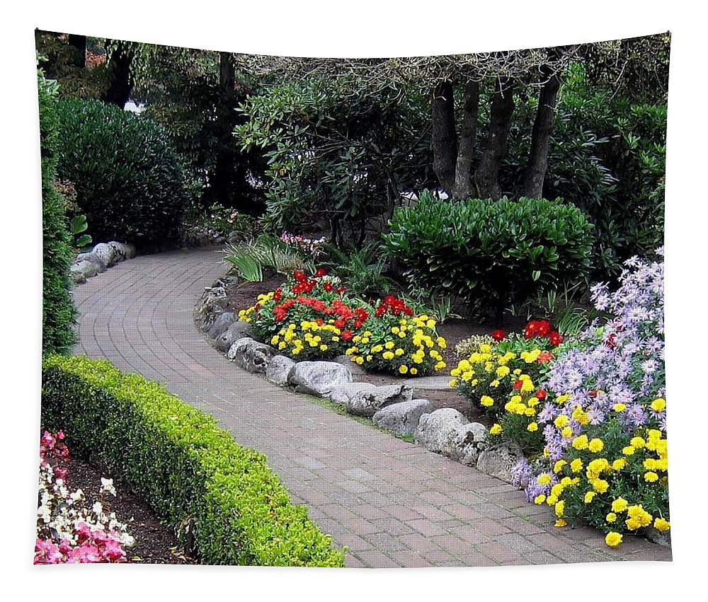 Garden Tapestry featuring the photograph North Vancouver Garden by Will Borden