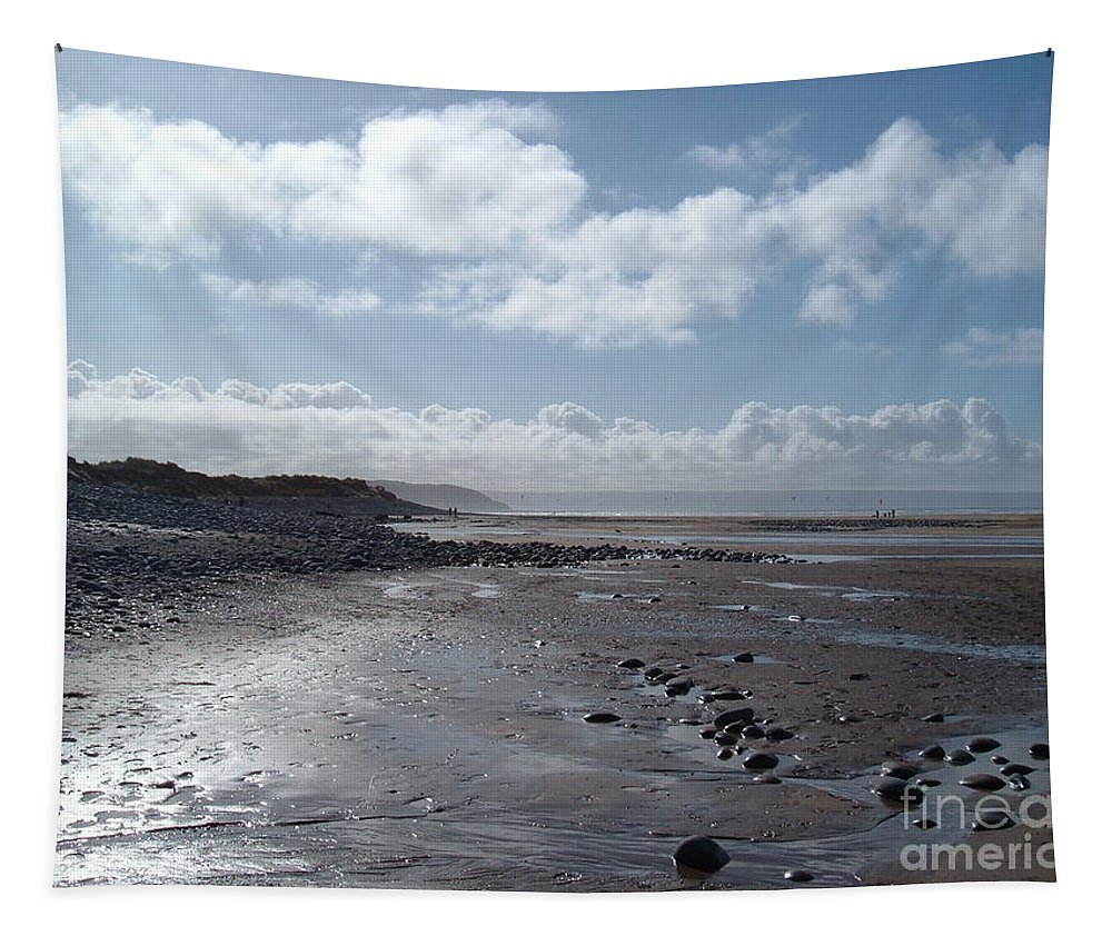 Beach Tapestry featuring the photograph Northam Burrows Beach by Richard Brookes