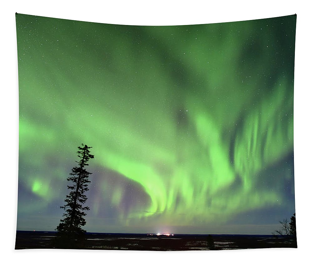Aurora Borealis Tapestry featuring the photograph Northern Lights by Edwin Verin