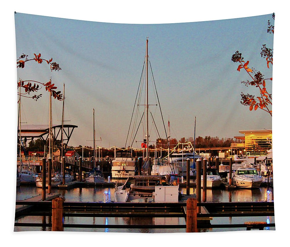 Port City Tapestry featuring the photograph Northern Riverfront by Cynthia Guinn