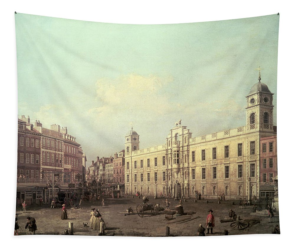Northumberland House (oil On Canvas) By Canaletto (giovanni Antonio Canal) (1697-1768) Tapestry featuring the painting Northumberland House by Canaletto