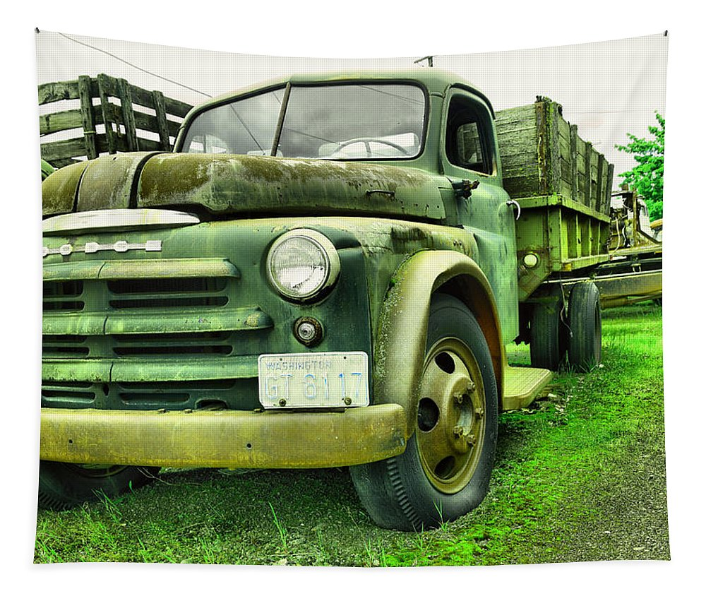 Dodge Tapestry featuring the photograph Nothng Like An Old Dodge by Jeff Swan