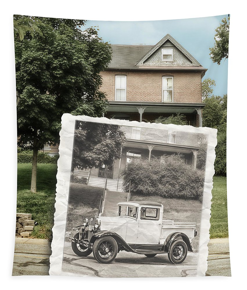 Omaha Tapestry featuring the photograph Now And Then by John Anderson