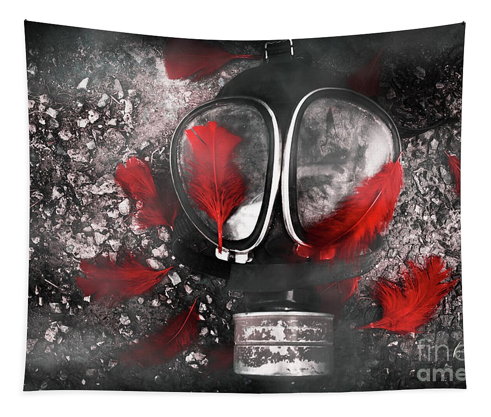Gasmask Tapestry featuring the photograph Nuclear Smog by Jorgo Photography - Wall Art Gallery