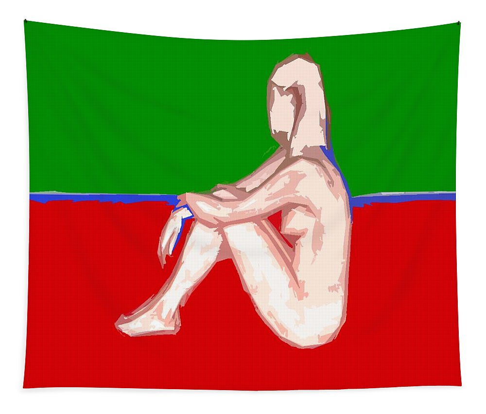Nude Tapestry featuring the painting Nude 28 by Patrick J Murphy