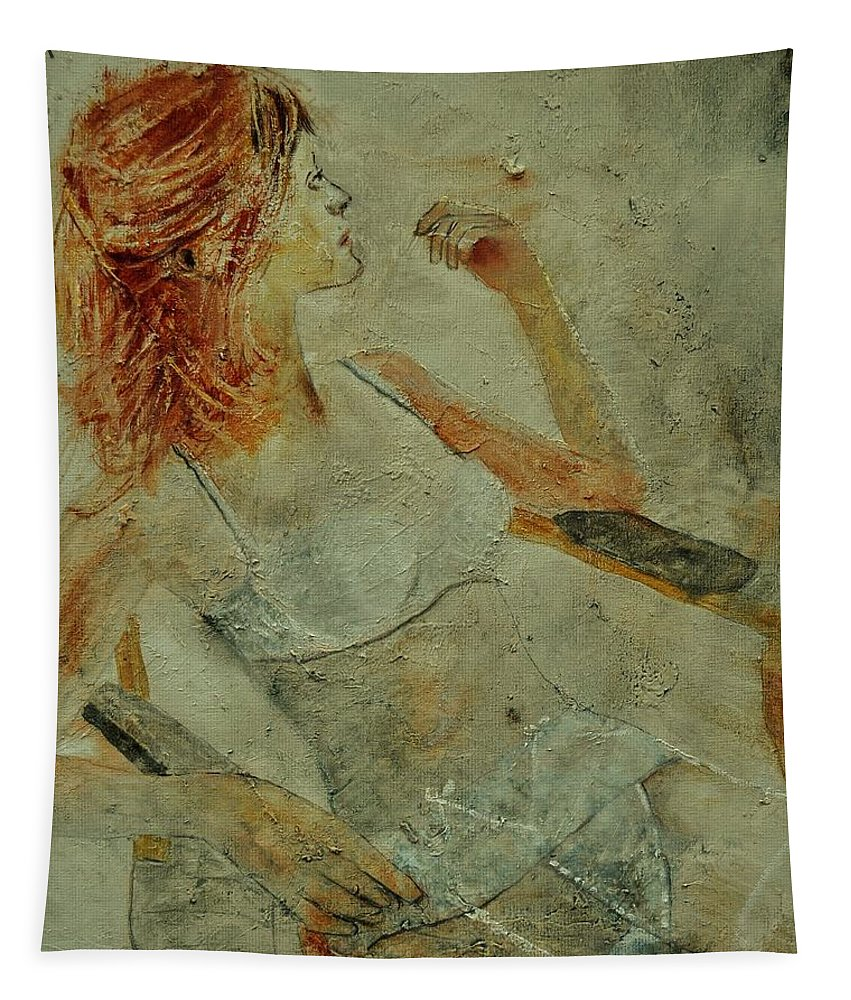 Nude Tapestry featuring the painting Nude 451170 by Pol Ledent