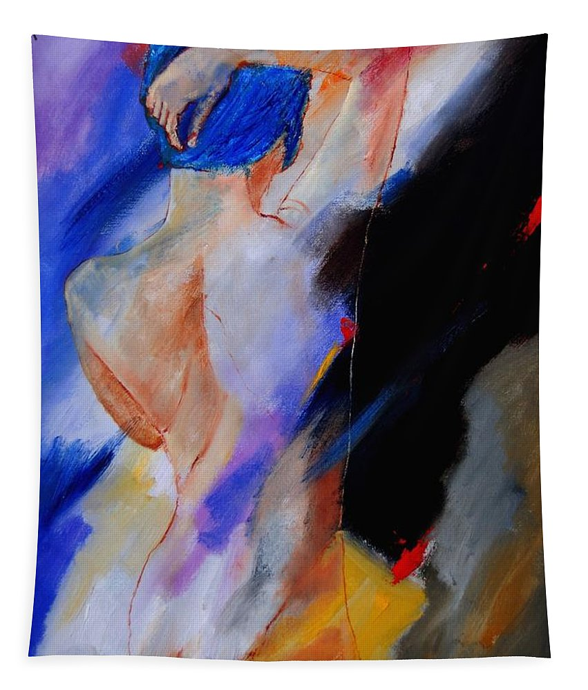 Nude Tapestry featuring the painting Nude 579020 by Pol Ledent