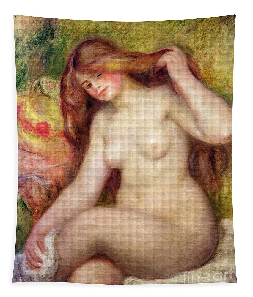 Nude Tapestry featuring the painting Nude by Renoir