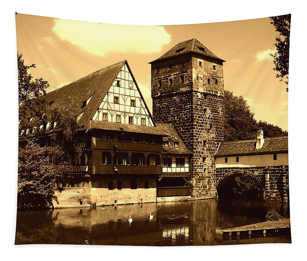 Europe Tapestry featuring the photograph Nuremberg by Juergen Weiss