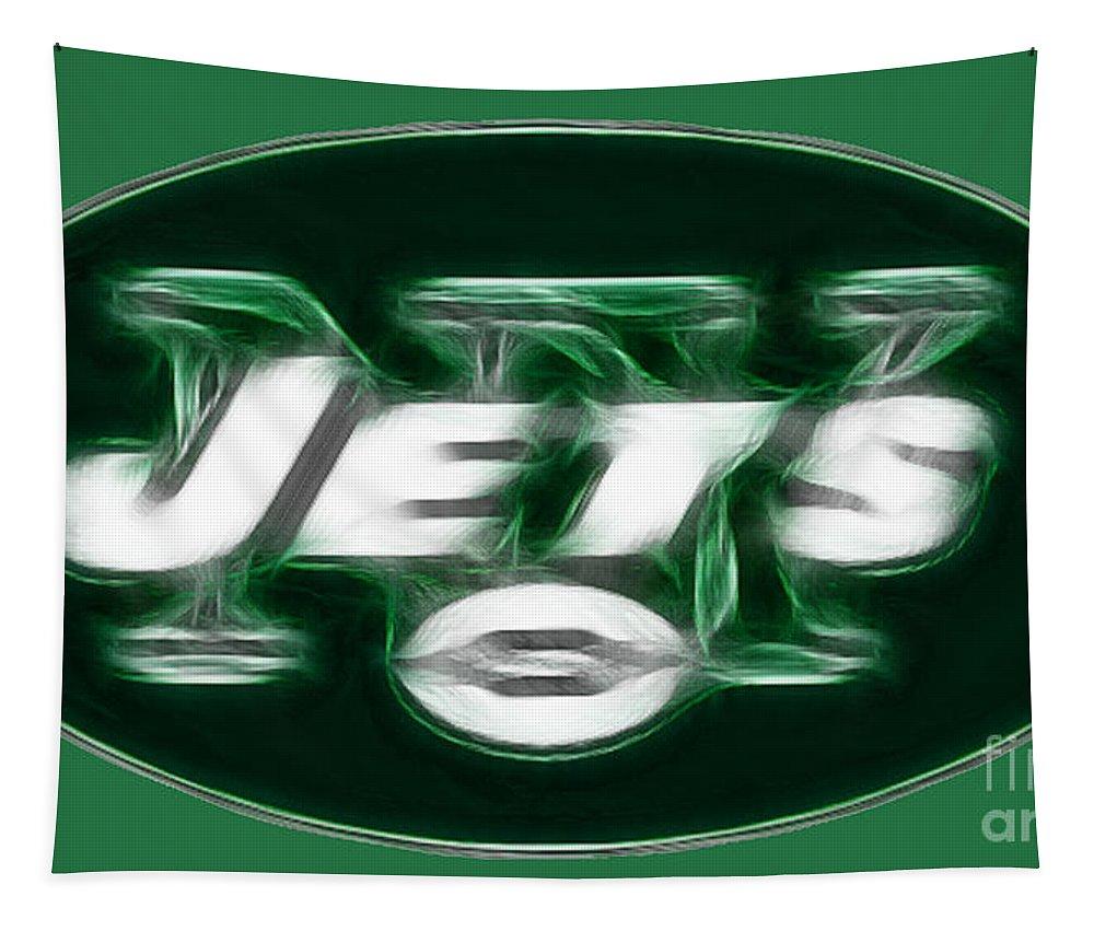Ny Jets Logo Tapestry featuring the photograph Ny Jets Fantasy by Paul Ward