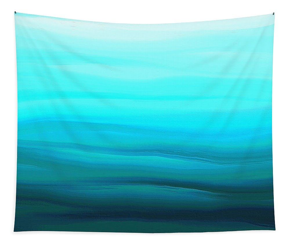 Ocean Deep Tapestry featuring the digital art Ocean Deep by Ely Arsha
