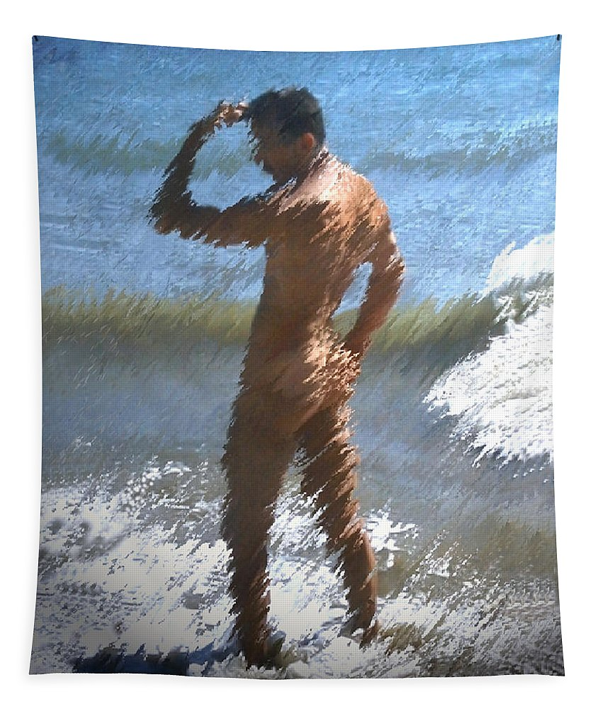 Nudes Tapestry featuring the photograph Ocean Thoughts by Kurt Van Wagner