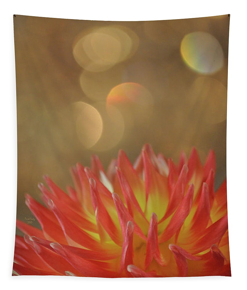 Flower Tapestry featuring the mixed media Octavia by Trish Tritz