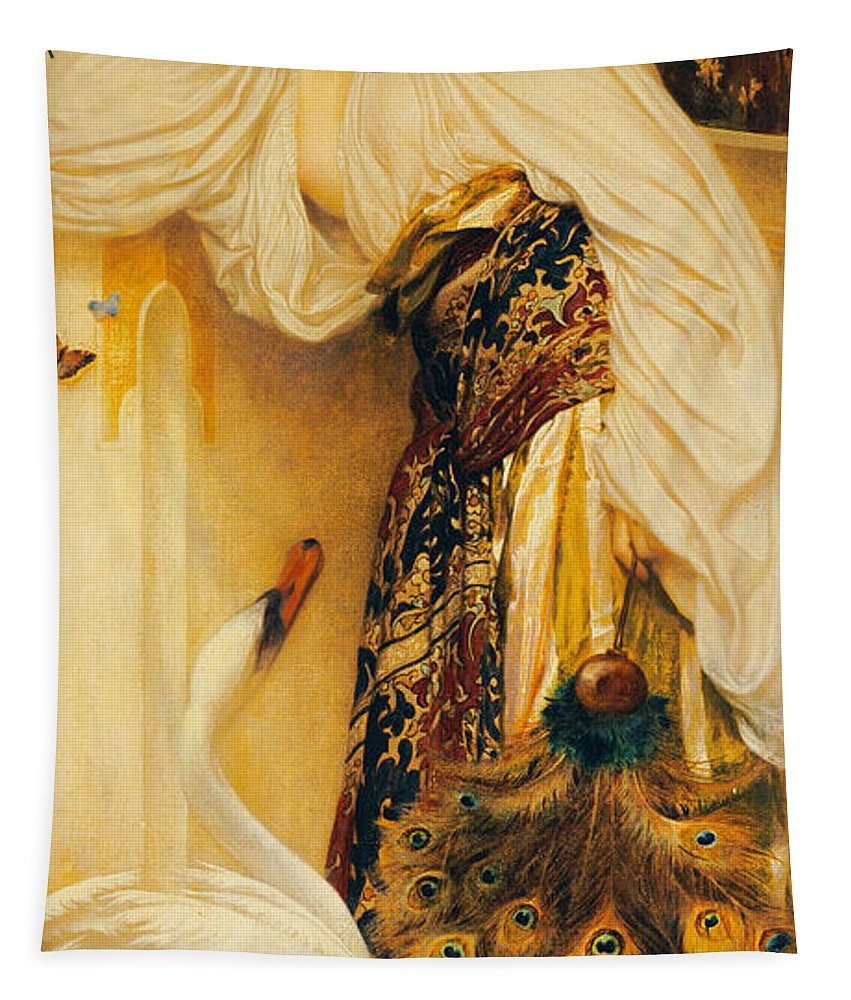Odalisque Tapestry featuring the painting Odalisque by Frederic Leighton